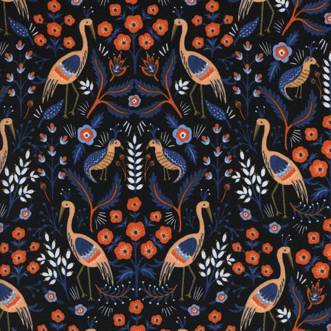 Cotton + Steel Les Fleurs - tapestry - black