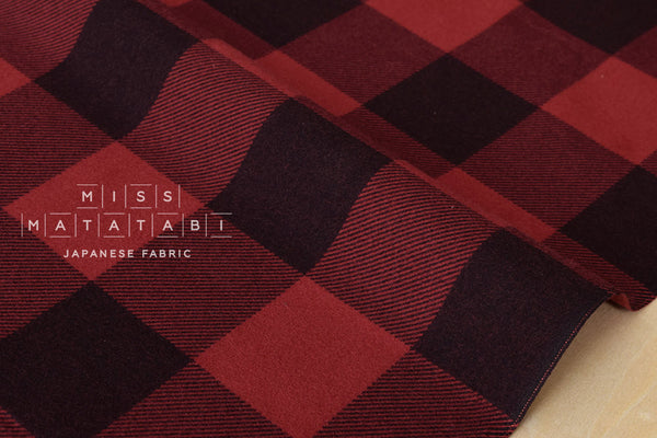 Buffalo check flannel - red