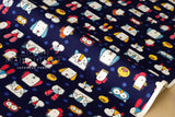 Animal faces - navy blue - fat quarter