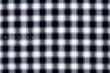 Yarn dyed cotton check - navy blue, white