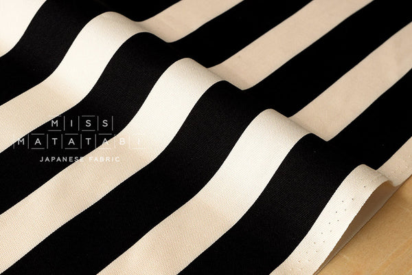 Stripes canvas - black - fat quarter