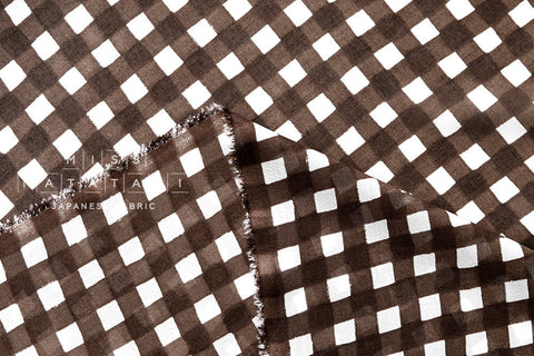 Cotton Voile - gingham - brown