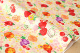 Kokka aquarelle fruit - orange, red, metallic - fat quarter