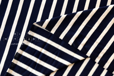 Jersey Knit Stripes - navy blue