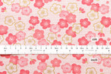 Japanese Fabric reversible ume and asa flowers - pink - fat quarter