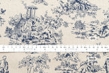 Toile - navy blue, natural - fat quarter