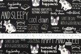 Kokka Happy and Sleepy Bulldog - black