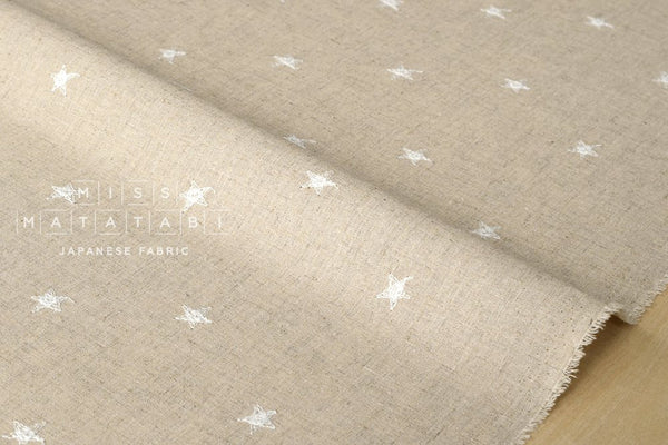 Embroidered Stars - white