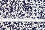 Botanical Swiss Dots - cotton lawn - navy blue