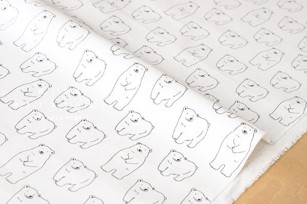 Shy Polar Bear - white - fat quarter