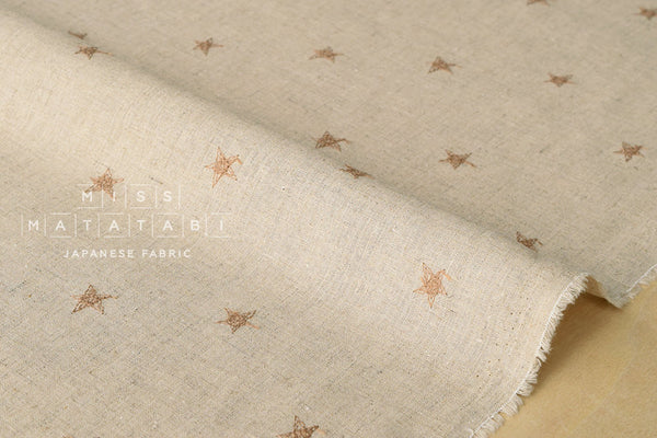 Embroidered Stars - latte