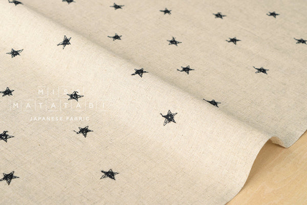 Embroidered Stars - black