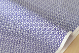 Gem facets - navy blue, white - fat quarter