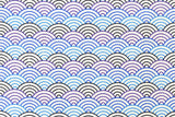 Japanese Fabric waves - indigo, blue, purple - fat quarter