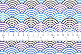 Japanese Fabric waves - indigo, blue, purple