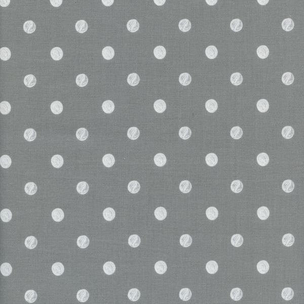 Cotton + Steel Wonderland - caterpillar dots - grey - fat quarter