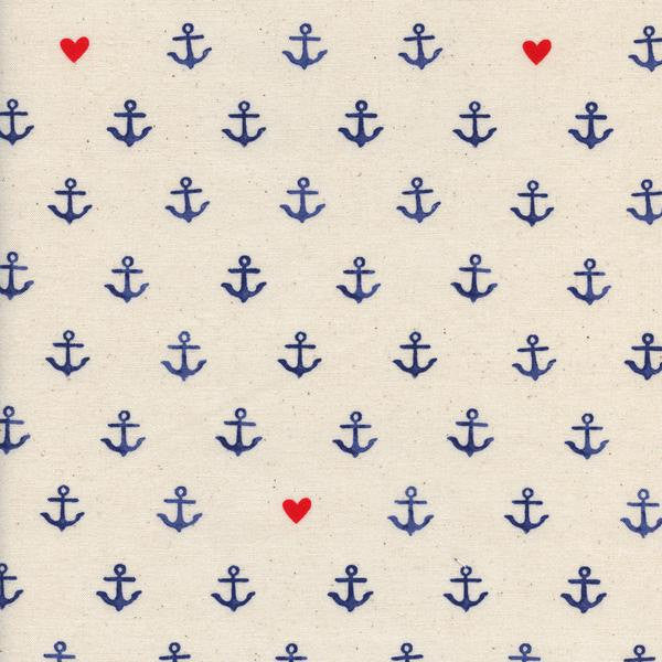 Cotton + Steel S.S. Bluebird - you're my anchor - natural