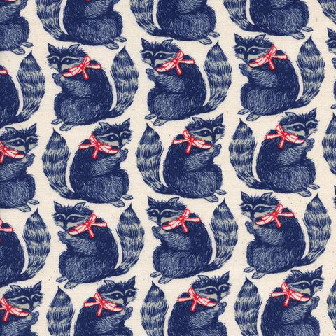 Cotton + Steel S.S. Bluebird - snacks - navy - fat quarter