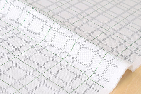 Wavy plaid - green, grey