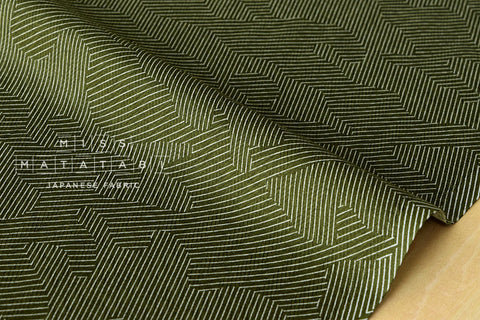 Herringbone abstract camo - olive