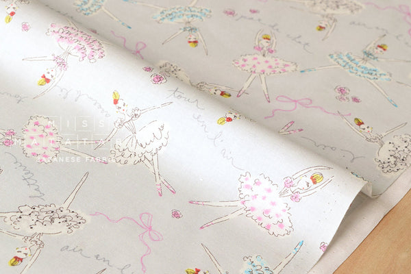 Kei Fabric miyako ballet - grey - fat quarter