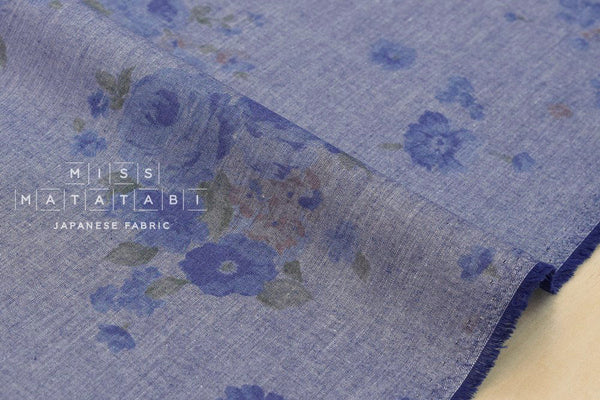 Chambray floral II - blue