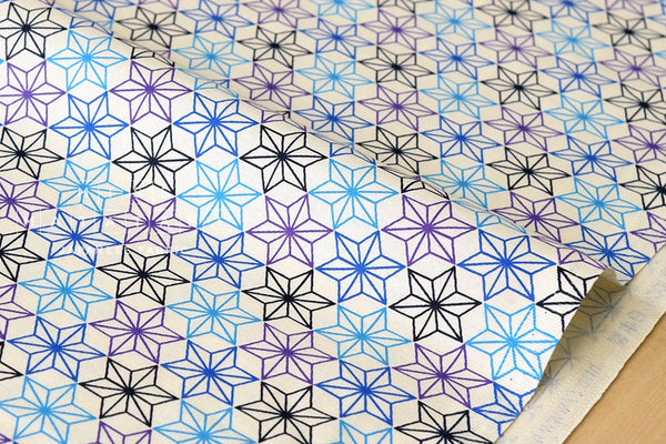 Japanese Fabric asagao - indigo, blue, purple