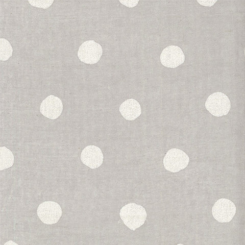 Nani Iro Kokka Japanese Fabric candy POCHO - grey, metallic pearl
