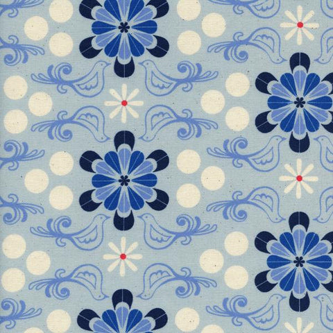 Cotton + Steel S.S. Bluebird - diner - blue - fat quarter
