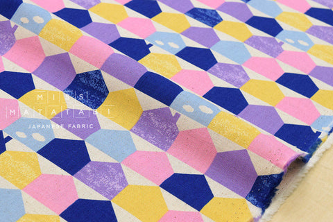 Houses canvas - pastels - fat quarter