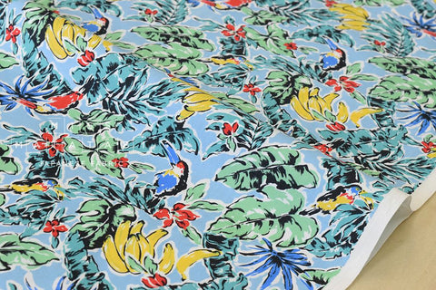 Tropics - blue, green, yellow - fat quarter