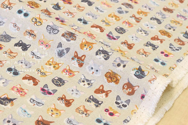 Kokka Animal World - cats - beige grey - fat quarter
