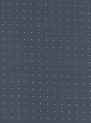 Cotton + Steel Black and White - double dots - dark grey - fat quarter