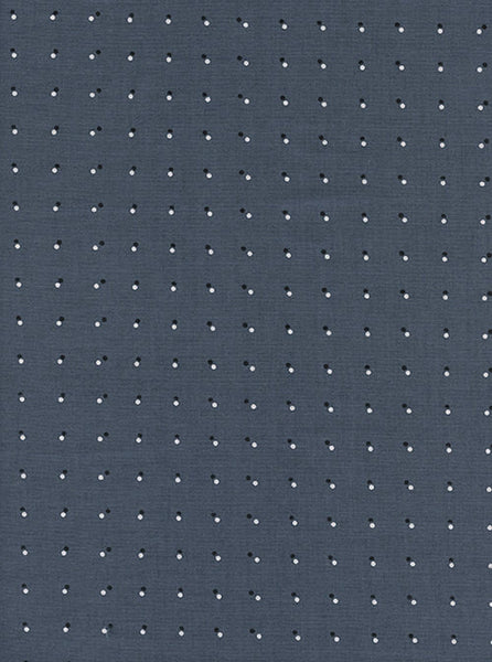 Cotton + Steel Black and White - double dots - dark grey