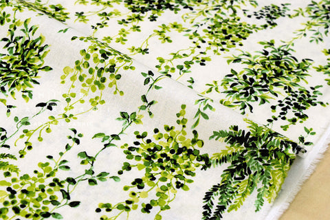 Hanging Plants - green, cream