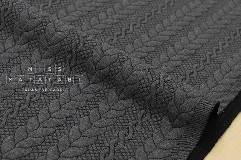 Cables Quilted Knit - grey