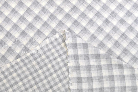 Yarn dyed double gauze gingham - grey