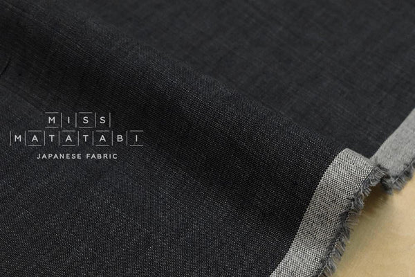 100% linen yarn dyed - charcoal grey