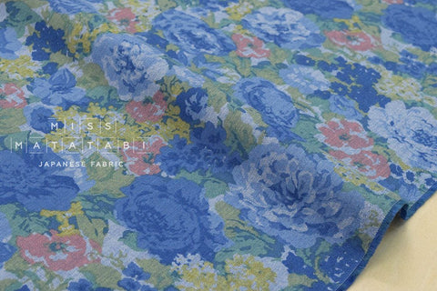 Chambray floral - blue