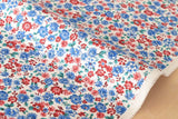 Pretty Floral - red, white, blue