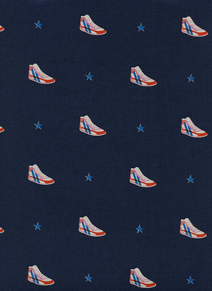 Cotton + Steel Kicks - little kicks navy - fat quarter