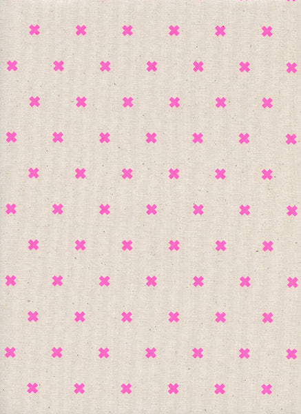 Cotton + Steel Basics - XOXO - flamingo - fat quarter