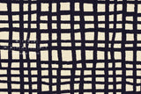 100% linen grid - dark navy