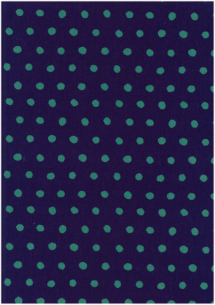 Kokka Echino - dot - purple, green - fat quarter