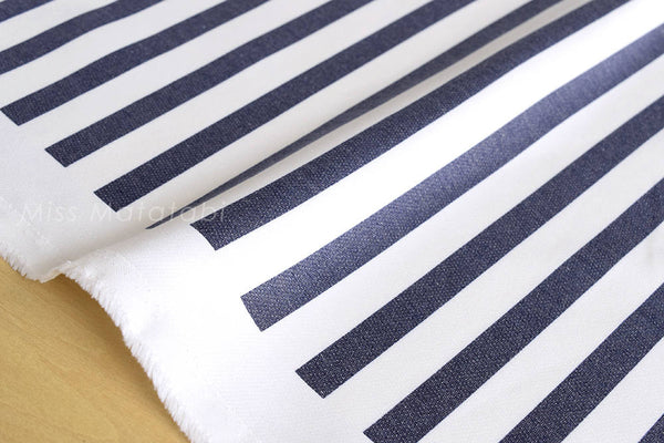 Ponte Knit - stripes - blue, white
