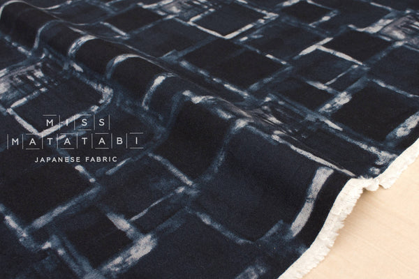 Print Blocks - dark navy blue