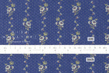 Pindot Floral - light indigo blue