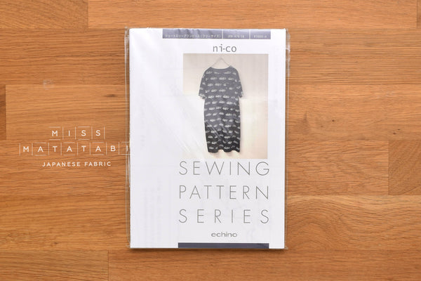 Japanese sewing pattern Echino - knit dress
