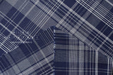 Yarn dyed indigo plaid - blue