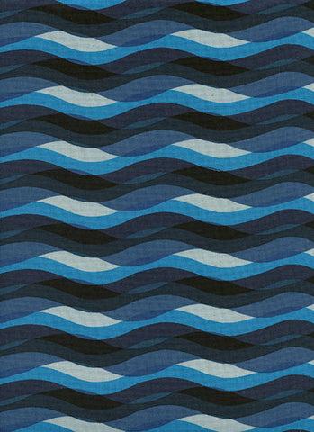 WILDLIFE Cotton + Steel Poolside - waves - blue - 50cm